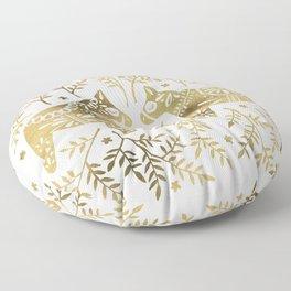 Swedish Dala Horses – Gold Palette Floor Pillow