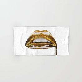 Golden Lips Hand & Bath Towel