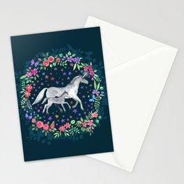 Mama and Baby Unicorn Stationery Cards