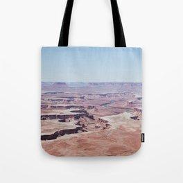 Hazy Desert Canyon Landscape Tote Bag