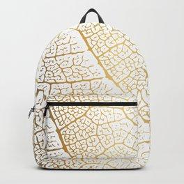 Gold Leaf Skeleton Tropical Abstract Botanical Boho Luxury  Backpack