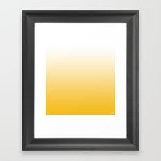 Autumn Yellow Gradient Framed Art Print