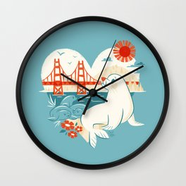 I Heart San Francisco Wall Clock