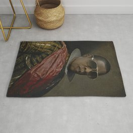 Portrait of Jay Z in Armor Rug