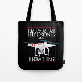 I Fly Drones Tote Bag