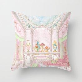 Paris Pink Patisserie Throw Pillow