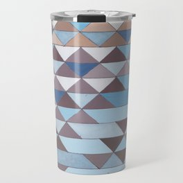 Triangle Pattern No.6 Crisp Blue Travel Mug