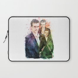 12th Doctor/Doctor Who/Peter Capaldi inspired Mixed Media Watercolor Portrait Laptop Sleeve