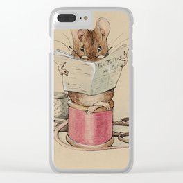 Beatrix Potter Tailor Mouse Clear iPhone Case