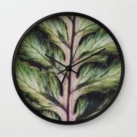 fern Wall Clocks featuring fern by Bonnie Jakobsen-Martin