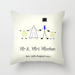Mr & Mrs Meehan Throw Pillow