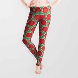 watermelon polka green Leggings