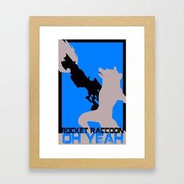 Rocket Raccoon Guardians of the galaxy Framed Art Print