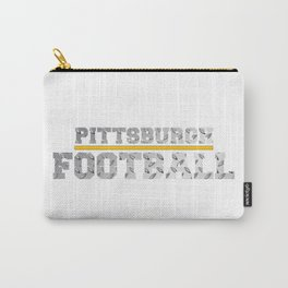 Football Metallic Carry-All Pouch