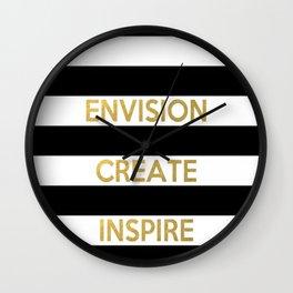 Envision Create Inspire Wall Clock