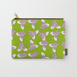 Pink & Green Chucks Carry-All Pouch