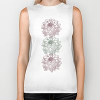 peonies Biker Tanks featuring Peonies by Zen and Chic