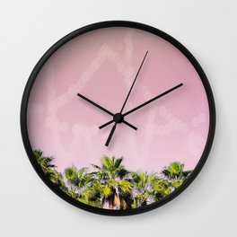 Row of Palms Wall Clock