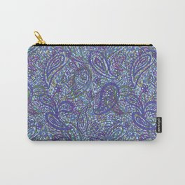 Layered Paisley Print Carry-All Pouch