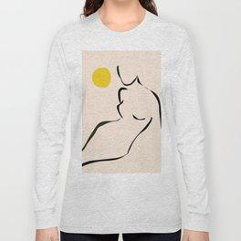 abstract minimal nude Long Sleeve T-shirt