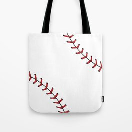 Softball Baseball design red laces Tote Bag