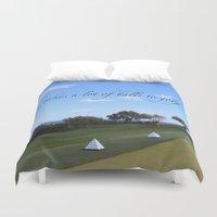 golf Duvet Covers featuring Golf by Rebecca Bear