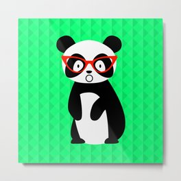 shocked panda Metal Print
