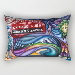 Chicago Montage 3 Rectangular Pillow