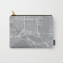 Indianapolis Map, Indiana USA - Pewter Carry-All Pouch
