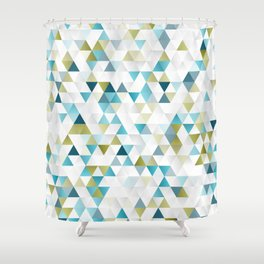 Low Polly Shower Curtain