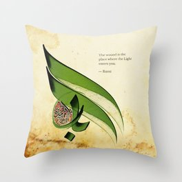 Arabic Calligraphy - Rumi - Light Throw Pillow