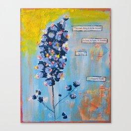 Rodin wildflower Canvas Print