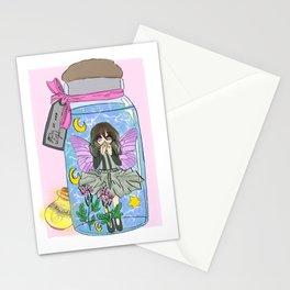 Tooth fairy Celestial horoscope magical anime girl Stationery Cards