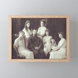 Romanov Family Portrait - 1913 Framed Mini Art Print