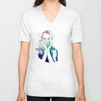 britney V-neck T-shirts featuring BRITNEY by Devon Jack