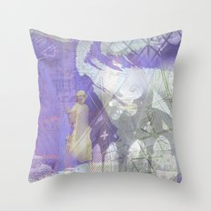 Memories of Salisbury (cropped) Throw Pillow