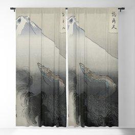 Dragon Rising to the Heavens at Mount Fuji by Ogata Gekko Blackout Curtain