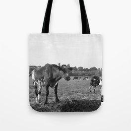 Cow Field Tote Bag