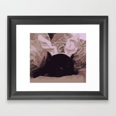 Soft Frenchie Framed Art Print
