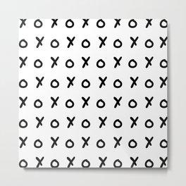 White & Black X&O's Metal Print