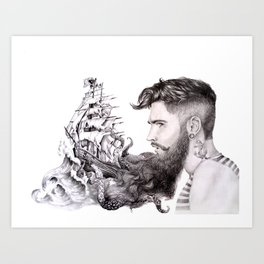 Sailor's Beard Art Print