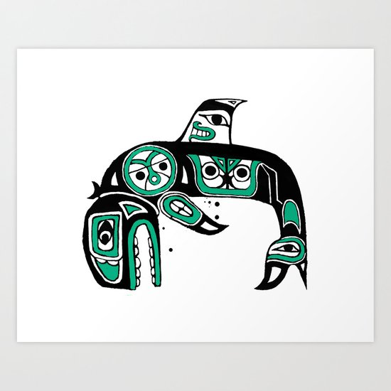 Native American Orca Art Print