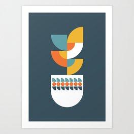 Geometric Plant 02 Art Print