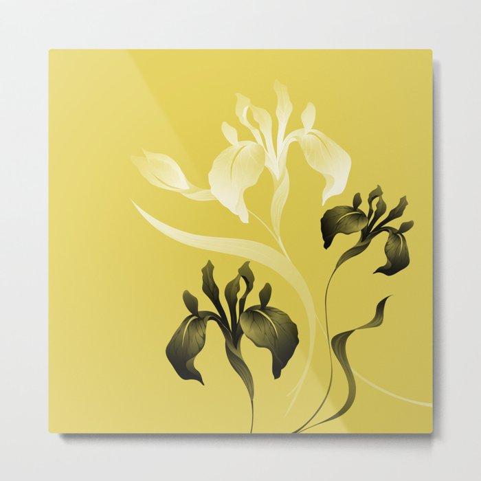 Iris on Maize Metal Print