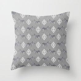 Zebra minimal modern pattern basic home dorm decor nursery safari patterns Throw Pillow