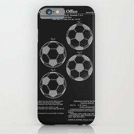 Soccer Ball Patent - Black iPhone Case