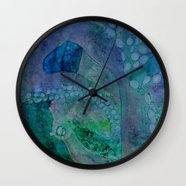 Pastel Octopus Wall Clock