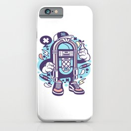 Juke Boxfor animated characters comics and pop culture lovers iPhone Case