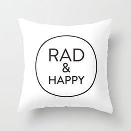Rad & Happy Throw Pillow