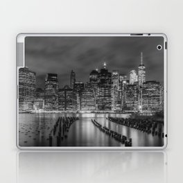 NEW YORK CITY Monochrome Night Impressions | Panoramic Laptop & iPad Skin